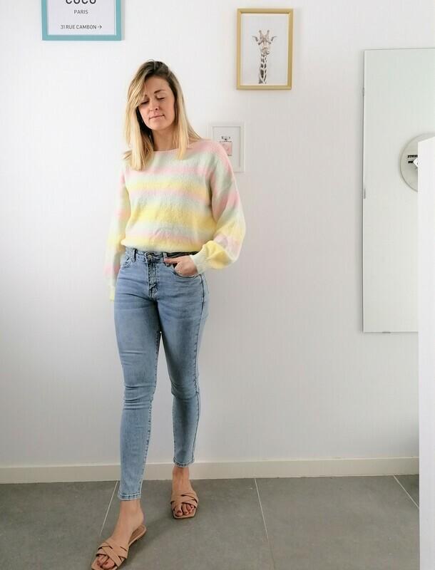 Rainbow sweater ~ yellow