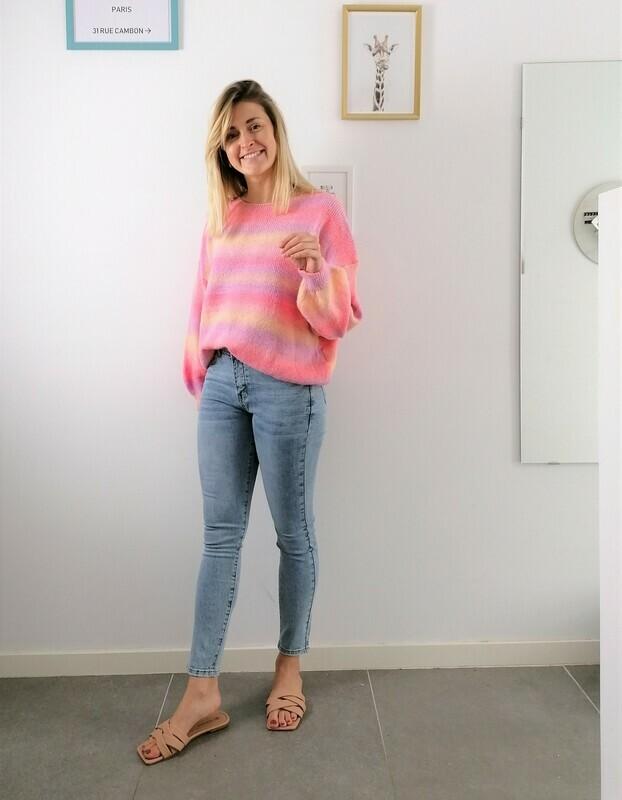 Rainbow sweater ~ pink