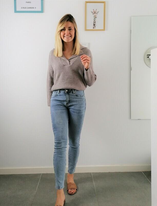 Rani sweater ~ taupe