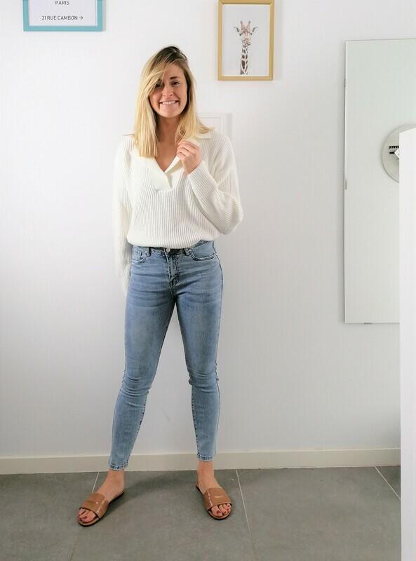 Rani sweater ~ white