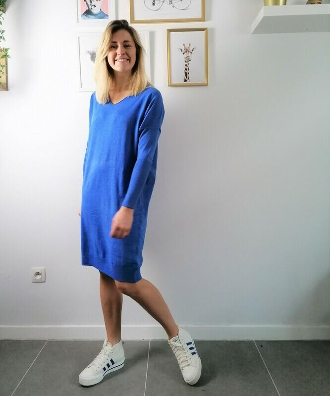 Lola dress ~cobalt blue