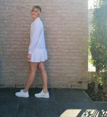 Stacey dress ~ white