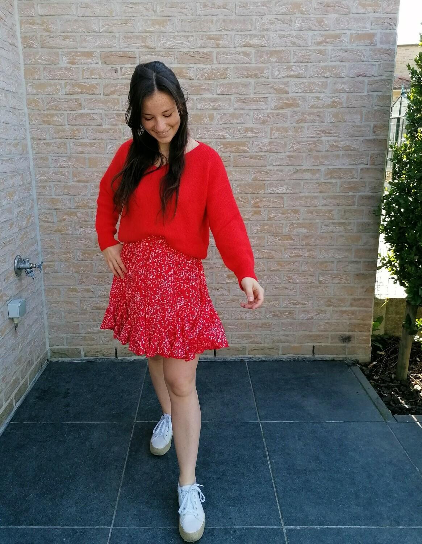 Sunshine skirt ~ red