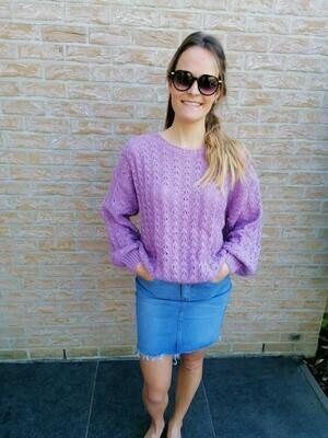 Hanne sweater ~ lilac