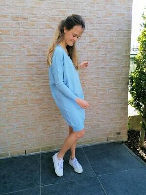 Sweater dress ~ light blue