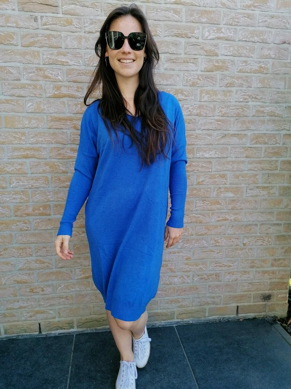Sweater dress ~ cobalt blue