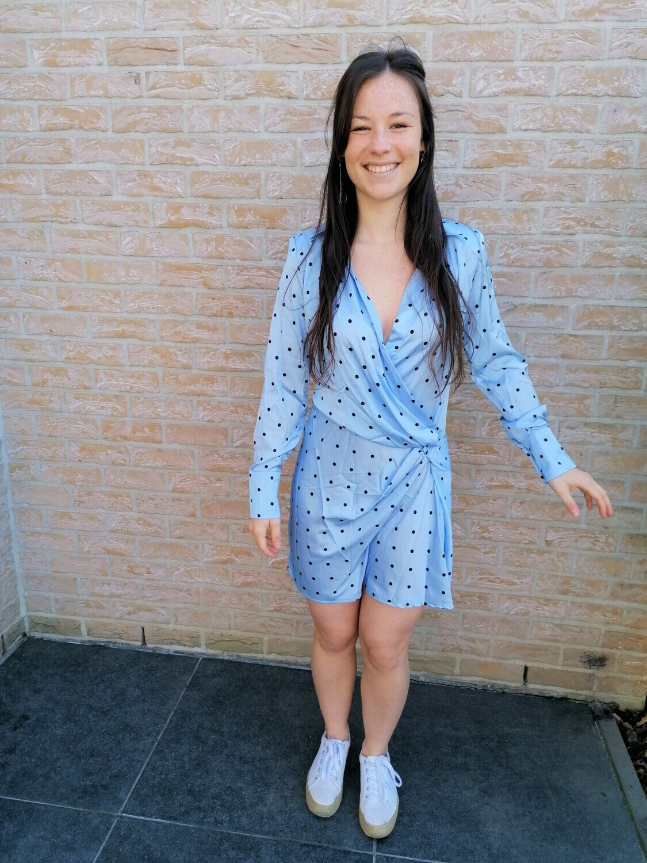 Dotsy dress ~ blue