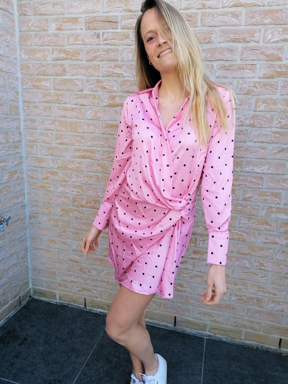 Dotsy dress ~ pink