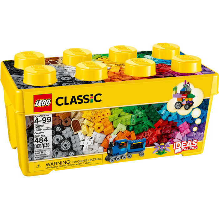 LEGO Medium Creative Brick Box Set (10696) + Classic Green Baseplate (10700)