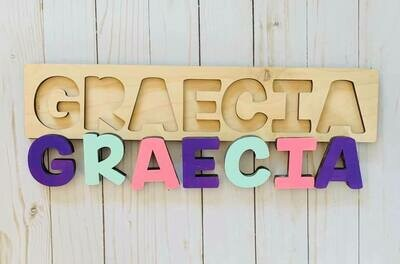 DIY Wooden Name Puzzle