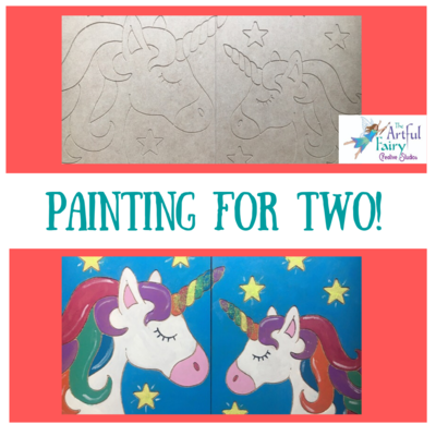 DIY Unicorn Painting for 2 Kit