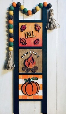Fall DIY Ladder with Interchangeable Inserts