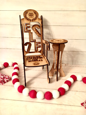 Personalized Elf Chair and Table for your Elf on A Shelf!