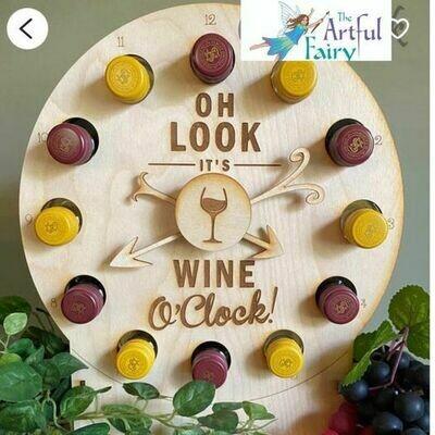 DIY Tipsy Wine Clock