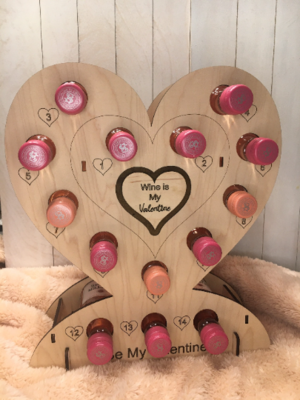 Personalized Tipsy Heart Mini Wine Holder - Wine Lover, Mother's Day, Bride, or Bridesmaid Gift