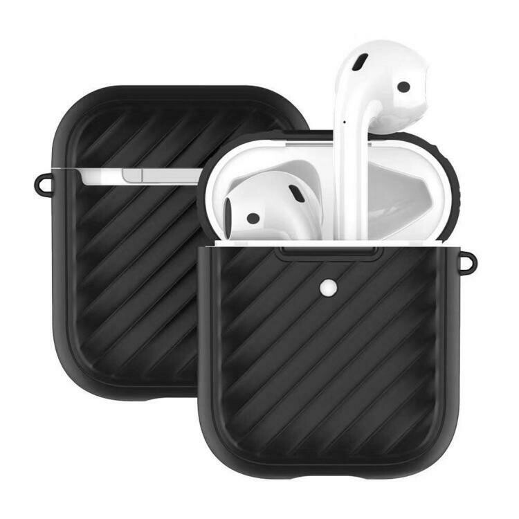 For Apple Airpods 1 / 2 Wave Texture TPU Wireless Earphone Protective Case without Earphone