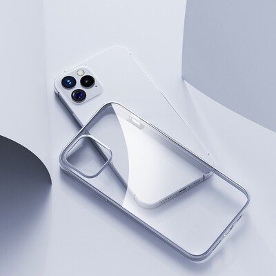 For iPhone 12 / 12 Pro Shockproof Electroplating TPU Protective Case (Silver)