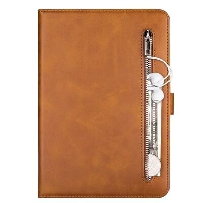 For iPad 10.2 / 10.5 (2020) Tablet Calf Texture Zipper Horizontal Flip Leather Case