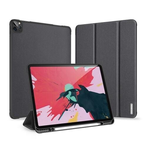 For iPad Pro 12.9 (2020) Horizontal Flip Magnetic PU Leather Case with Three-folding Holder & Pen Slot
