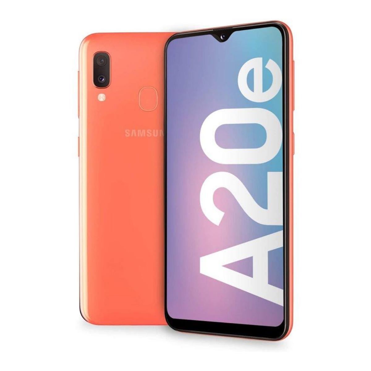 Sim Free Samsung Galaxy A20E 32GB Unlocked Mobile Phone - Coral