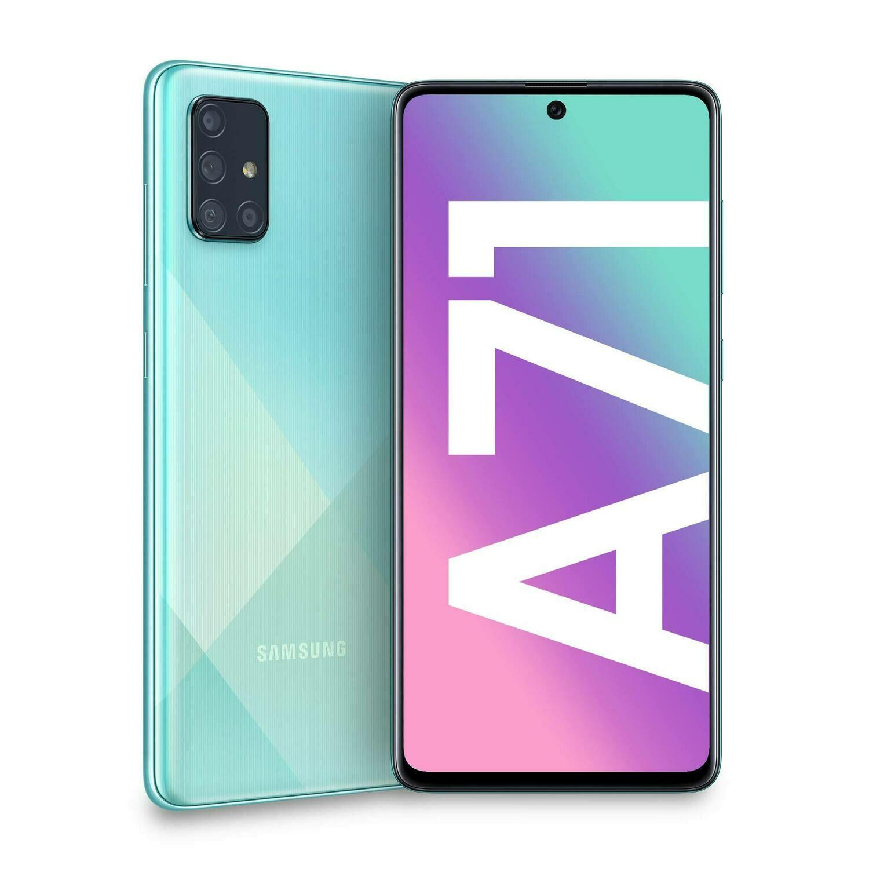 Sim Free Samsung A71 128GB Unlocked Mobile Phone - Blue