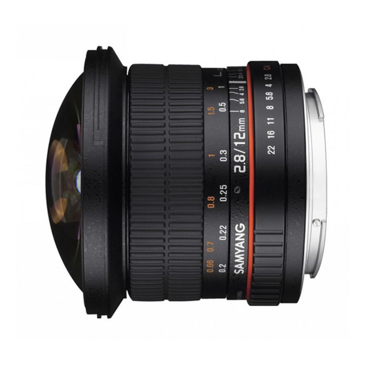 Samyang 12mm f/2.8 ED AS NCS Fisheye Lens for Sony E Mount - Black