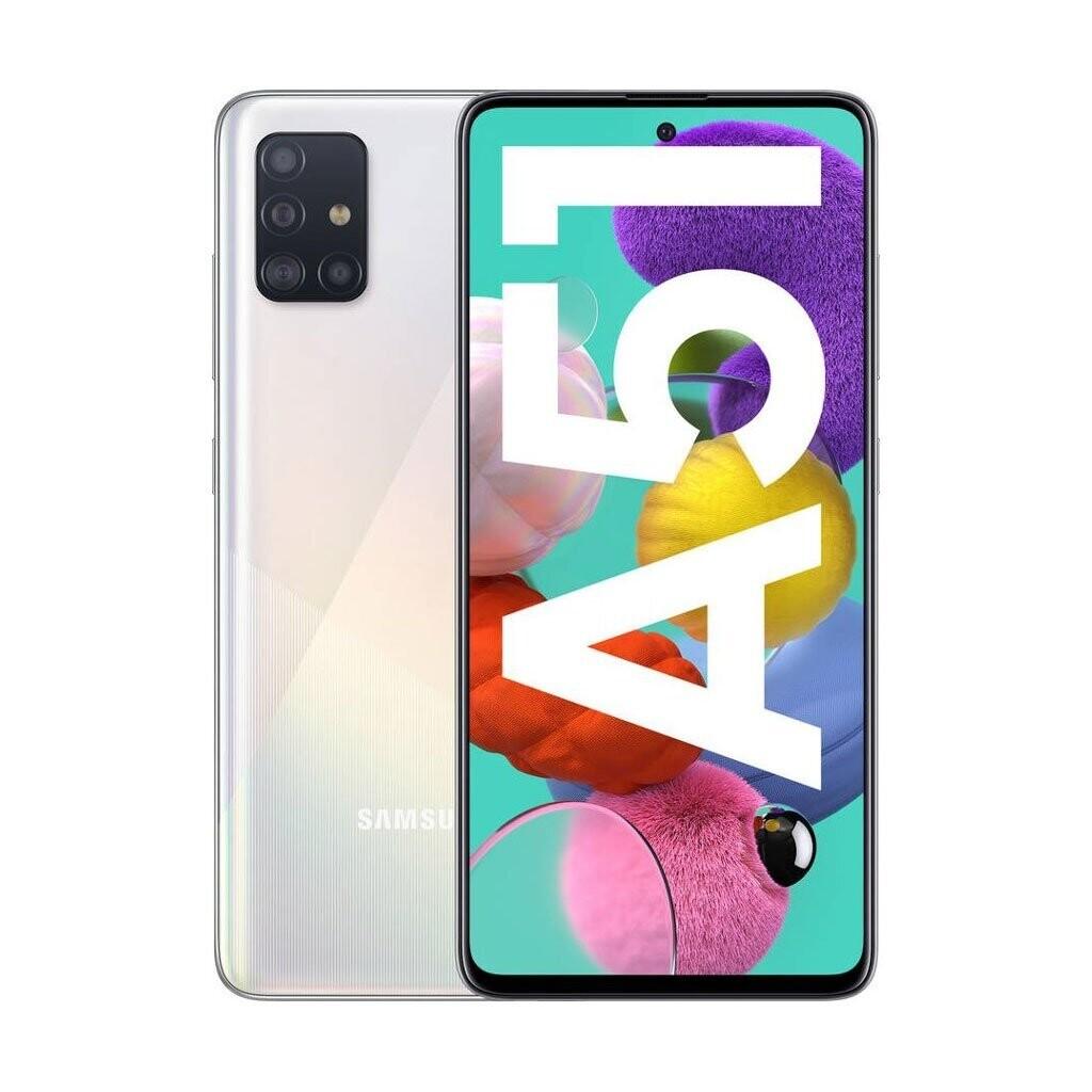 Sim Free Samsung A51 128GB Unlocked Mobile Phone - White
