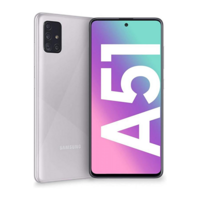 Sim Free Samsung A51 128GB Unlocked Mobile Phone - Haze Crush Silver