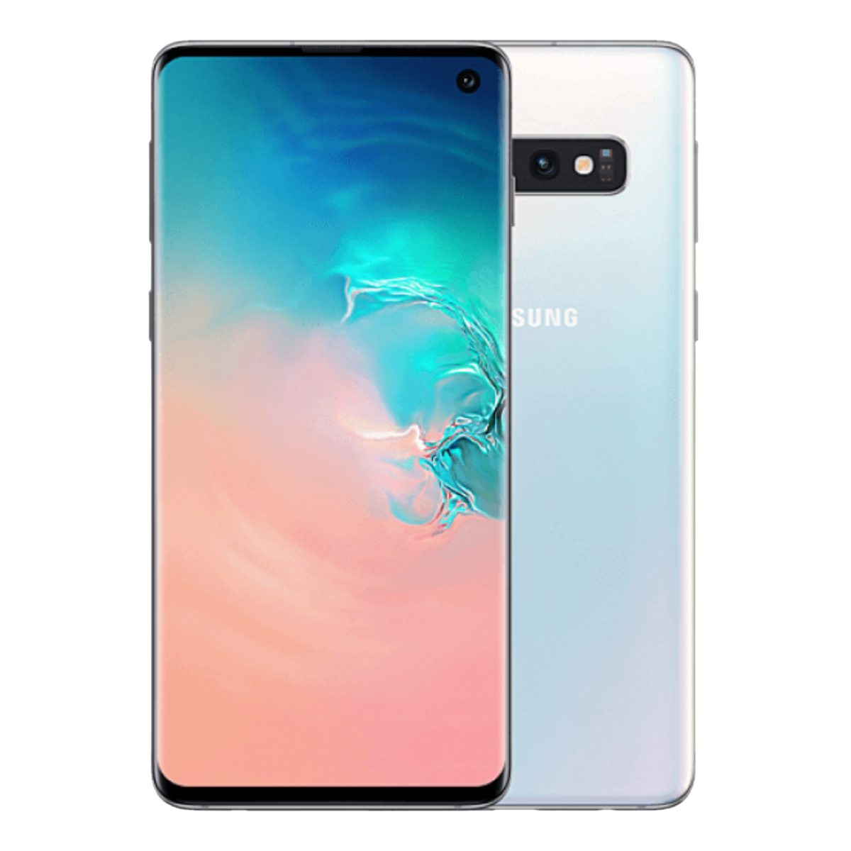 Sim Free Samsung Galaxy S10 Plus 128GB Unlocked Mobile Phone - Prism White