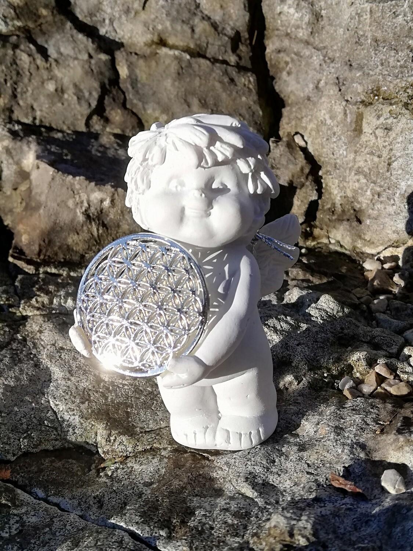 Igor Engel mit Blume des Lebens, silber
