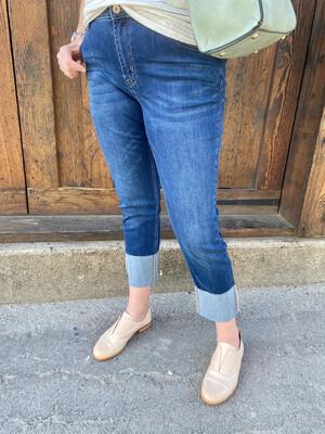 Indigo Wide Cuff Jean