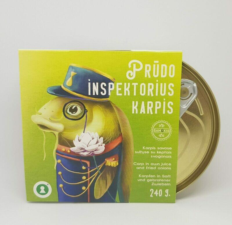 """""""PRŪDO INSPEKTORIUS KARPIS"""", KARPIS SAVOSE SULTYSE SU KEPINTAIS SVOGŪNAIS, 240 G."""