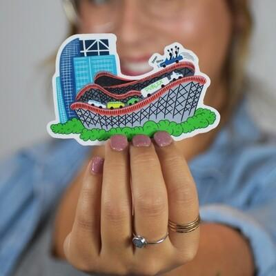 I4 Roller Coaster Sticker