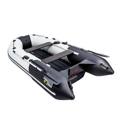"""Лодка Ривьера 2900 Компакт НДНД """"Комби"""" светло-серый/черный"""