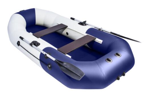 """Лодка Таймень NX 270 """"Комби"""" светло-серый/синий"""
