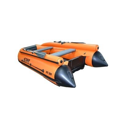 Лодка Альтаир HD 380 НДНД с фальшбортом оранж.