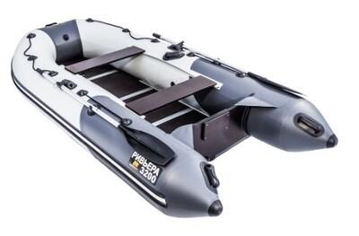 """Лодка Ривьера 3200 Компакт СК """"Комби"""" светло-серый/графит"""