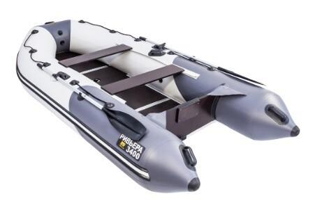 """Лодка Ривьера 3400 Компакт СК """"Комби"""" светло-серый/графит"""