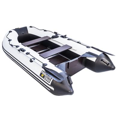 """Лодка Ривьера 2900 Компакт СК """"Касатка"""" светло-серый/черный"""