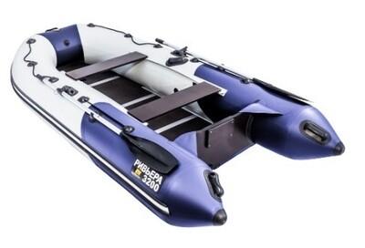 """Лодка Ривьера 3200 Компакт СК """"Комби"""" светло-серый/синий"""