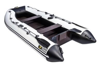"""Лодка Ривьера 3200 Компакт С """"Касатка"""" светло-серый/черный"""