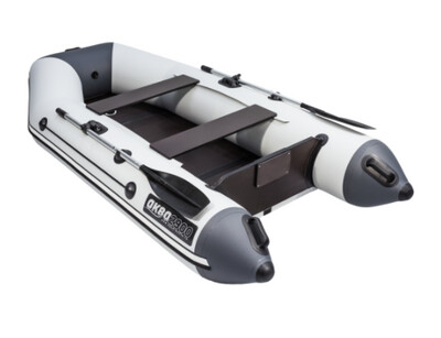 Лодка АКВА 2900 Слань-Книжка Киль Светло-серый/графит