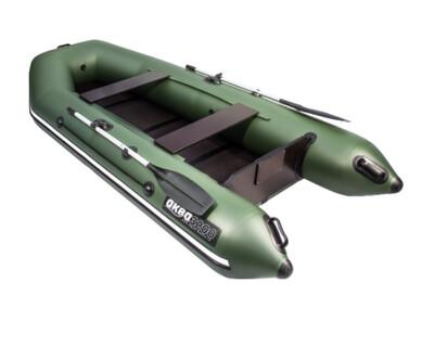 Лодка АКВА 3200 Слань-книжка киль зеленый