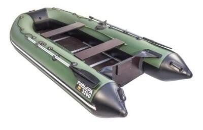 """Лодка Ривьера 3200 Компакт СК """"Касатка"""" зеленый/черный"""