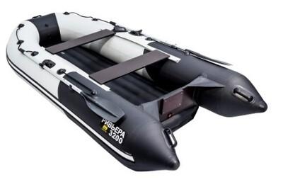 """Лодка Ривьера 3200 НДНД Компакт """"Комби"""" светло-серый/черный"""