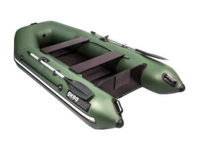 Лодка АКВА 2900 Слань-Книжка Киль Зеленый