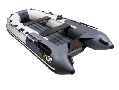 """Лодка Ривьера 3200 Компакт НДНД """"Комби"""" светло-серый/графит"""