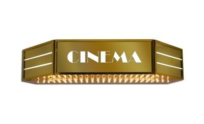 Holllywood Cinema Identity Sign