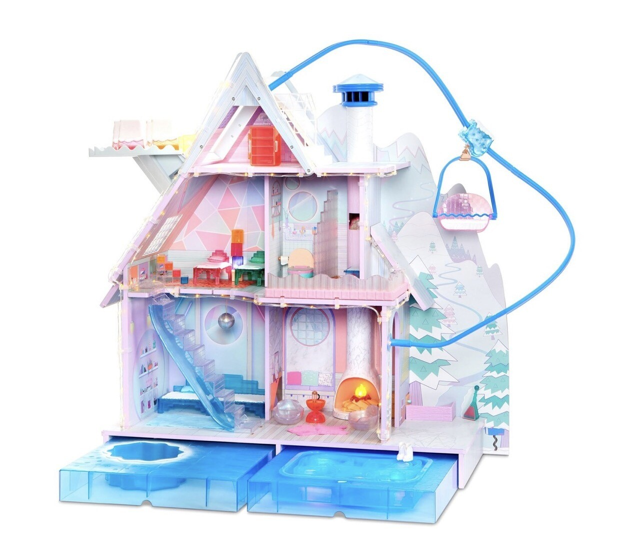 L.O.L. Surprise! Winter Disco Chalet Wooden Doll House