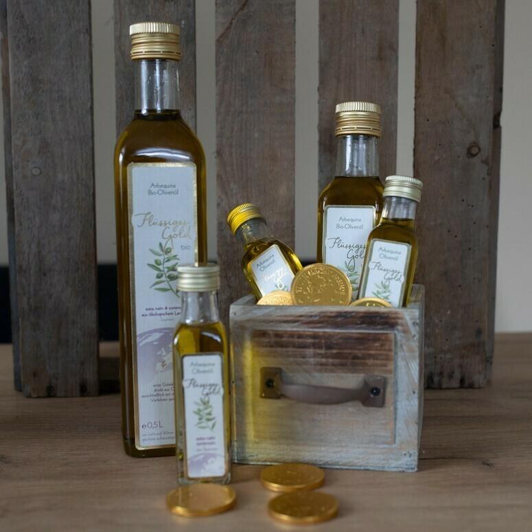 Flüssiges Gold Bio-Arbequina Olivenöl 250ml